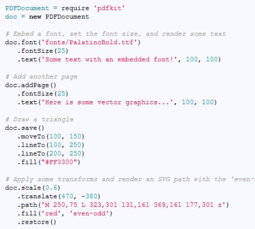 Node js向けのPDF作成ライブラリ「PDFKit」:phpspot開発日誌