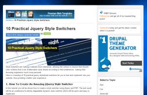 jQueryを使ったCSS切り替えコードが掲載されているチュートリアルサイト色々