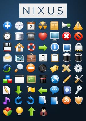 次のプロジェクトに是非使いたくなってしまうような60個のアイコンセット「NIXUS」