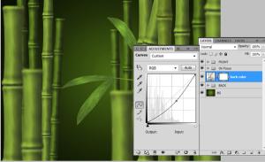 Photoshopで竹の画像をゼロから作るチュートリアル