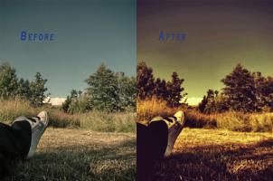 写真をもっと魅力的にみせるためのPhotoshopアクション fig.1