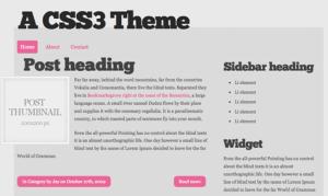 フリーで使える15のHTML5+CSS3なテンプレートファイル fig.4