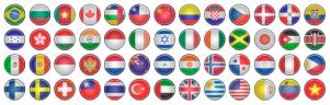 色々なデザインの国旗アイコン fig.1