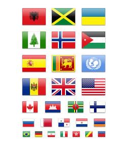 色々なデザインの国旗アイコン fig.4
