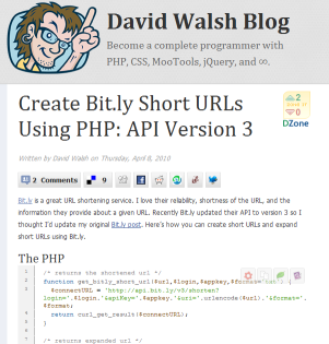 Bit.lyのAPIバージョン3でPHPを使いURLを短縮するコード例