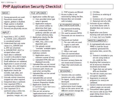 PHPアプリケーションのセキュリティーチェックシートPDF
