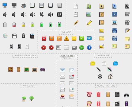 ドット絵感がいい感じのWEBアプリにも使えそうなアイコンセット