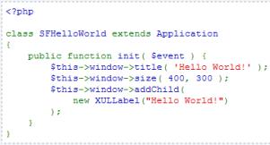 PHPでXULによるGUIアプリケーションが作れる仕組み fig.3