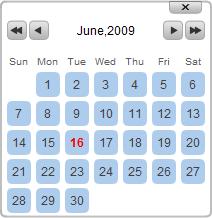 角丸を使った可愛いカレンダーピッカー実装JavaScript