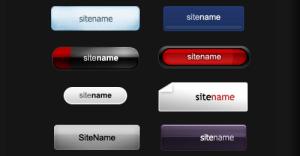 デザイン色々なフリーのボタンPSD fig.1