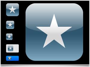 iPhone4向けのアイコン作成用Photoshopテンプレートファイル