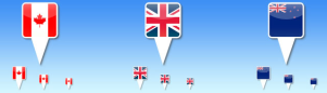 色々なデザインの国旗アイコン fig.0