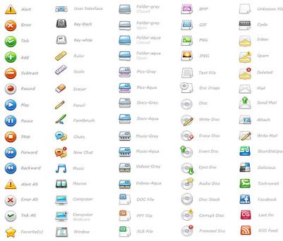 WEBサイトに使えそうな75種類の32x32ピクセルアイコンセット