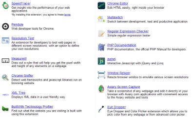 WEB開発者向けのChromeExtensionのまとめサイト fig.2