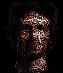 タイポグラフィで描画された人物
