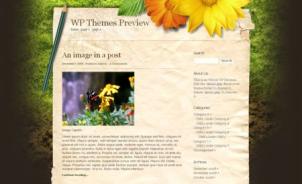 女性向けブログ等によさそうな花をベースとしたWordPressテーマ.1