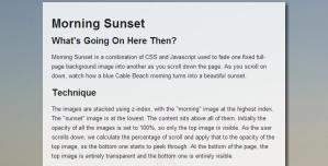 スクロールさせると日が沈んでいく面白いサイト fig.1