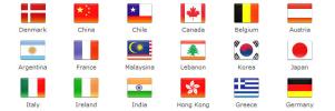 色々なデザインの国旗アイコン fig.2